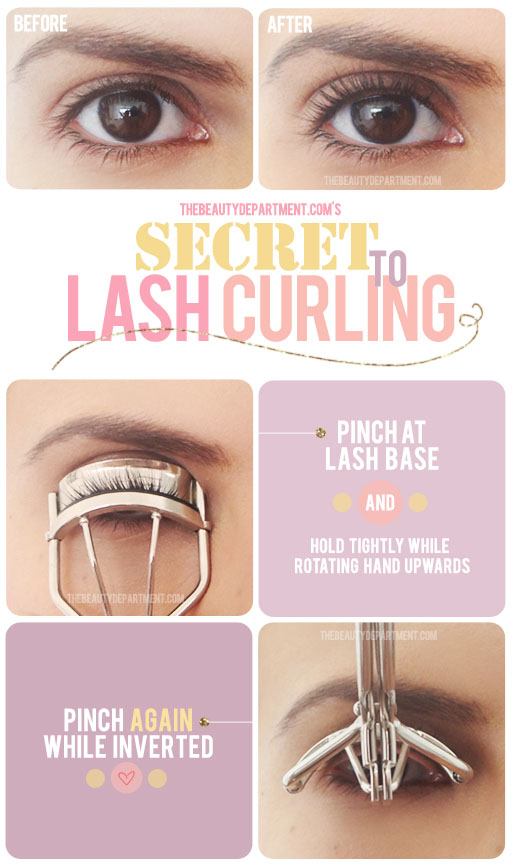 secret to lash curling