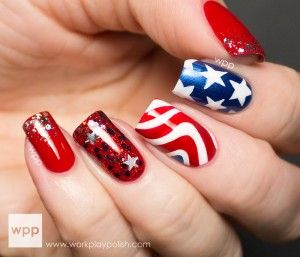 4th of july nail art 3