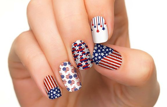 4th of july nail art 5