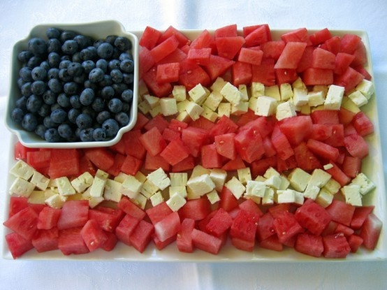 4th of july platter watermelon