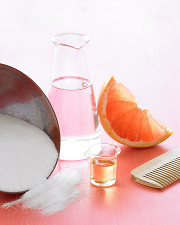diy salt and oil summer hair treatment