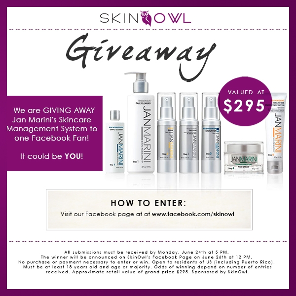 jan marini giveaway blog