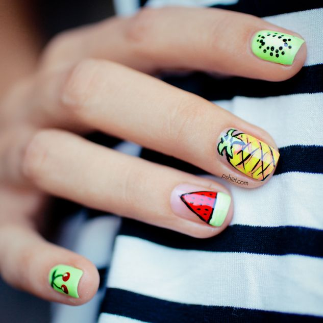 fruit nail art 2