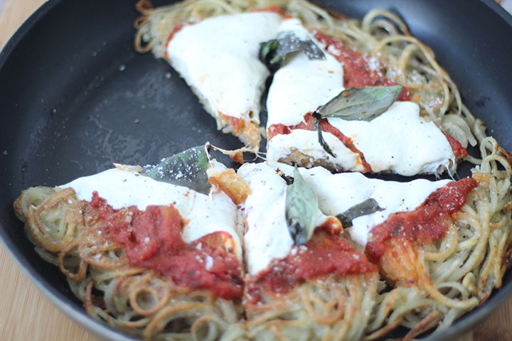 Gluten-Free Spiralized Margherita Pizza