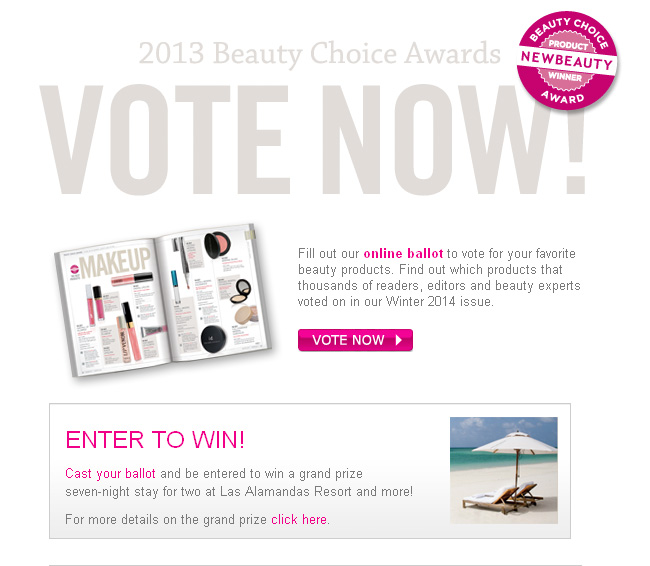 beauty choice awards skinowl giveaway 2