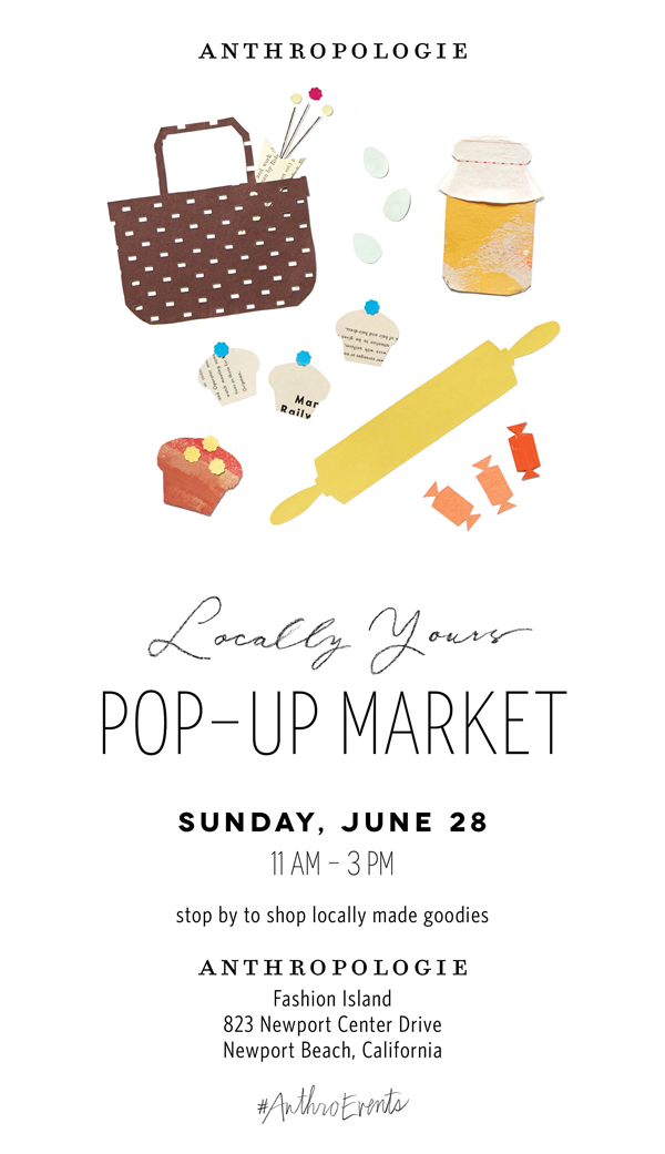 "Events: We're ""Popping-Up"" with Anthropologie in Newport Beach!"