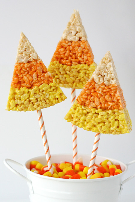 Candy Corn Krispy Treats | Girls Night In Halloween Style | SkinOwl