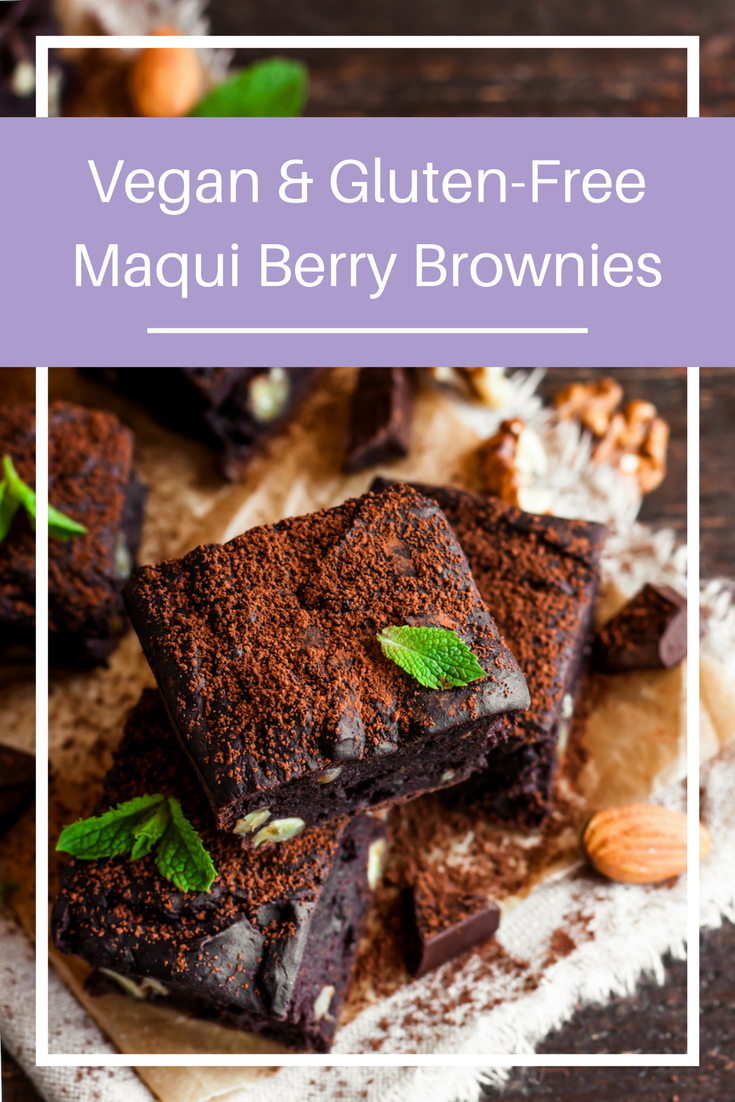 Delicious Vegan & Gluten-Free Maqui Berry Brownies | skinowl.com