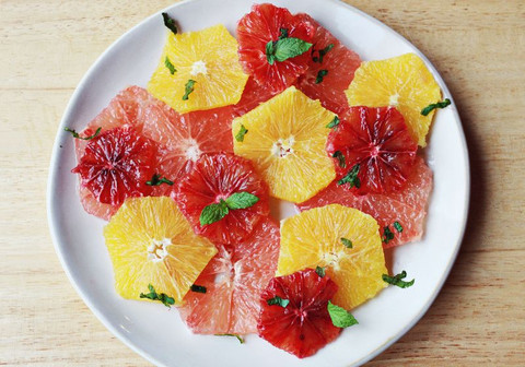 Feed Your Beauty: Citrus Salad with Yogurt Dressing