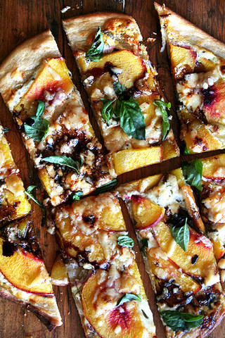 Feed Your Beauty: Nectarine Pizza with Fresh Basil and Balsamic