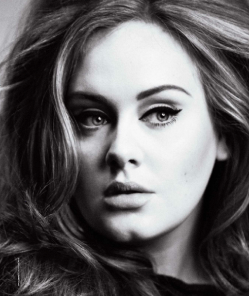 adele rolling stone black and white beauty skin