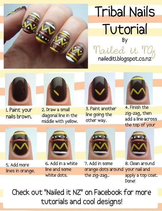 Ooh La Trend: Tribal Nail Art Tutorial